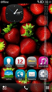 Strawberries HD tema screenshot