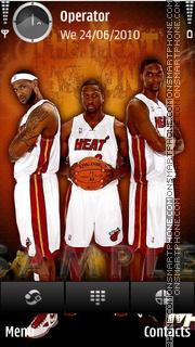 Miami Heat Three theme screenshot