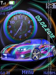 The neon car theme screenshot