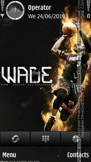 Dwyane Wade theme screenshot