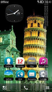 Tower of Pisa es el tema de pantalla