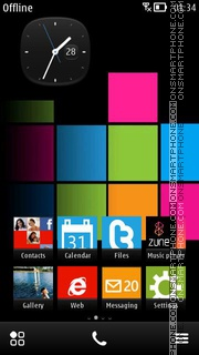 Lumia theme tema screenshot