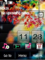 Beautiful Nature Clock theme screenshot