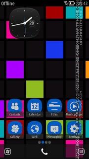 Symbian Phone Blue es el tema de pantalla