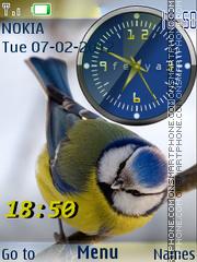 Bird And Clock theme screenshot