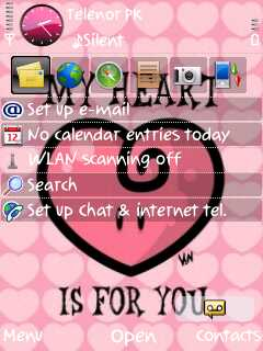 My heart theme screenshot