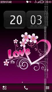 My valentine es el tema de pantalla