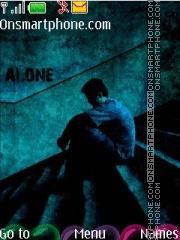 Скриншот темы Alone boy