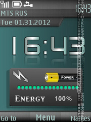 Battery Energy theme screenshot