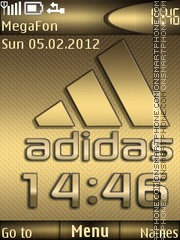Adidas Metal theme screenshot