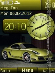Porsche Cayman tema screenshot