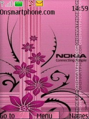 Abstract Nokia 06 theme screenshot