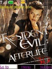 Capture d'écran Resident Evil thème
