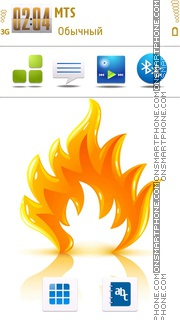 Flame 03 tema screenshot