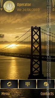 Sunrise Over The Bay Bridge theme screenshot