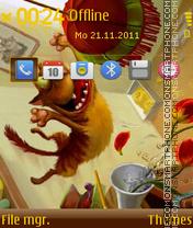 Drawn Cat 01 es el tema de pantalla