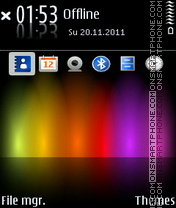 Spectrum touch theme screenshot