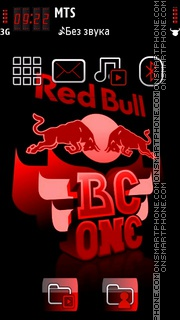 Red Bull 08 tema screenshot