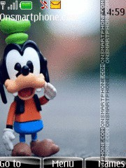 Disney Goofy theme screenshot
