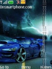 Скриншот темы Blue Bmw Car