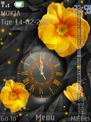 Bright flower theme screenshot