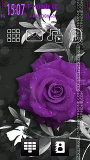Violet Rose theme screenshot