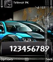 Скриншот темы Blue Volkswagen