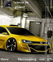 Yellow wolks Volkswagen theme screenshot