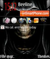 Скриншот темы Skull