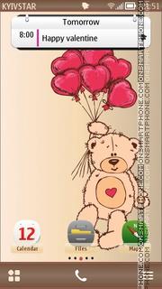 Teddy valentine es el tema de pantalla