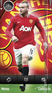 Rooney man utd logo tema screenshot