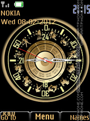 Zodiac Clock 02 tema screenshot