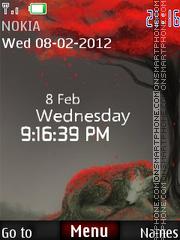 Wolf Clock 01 es el tema de pantalla