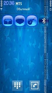 Blue Abstract 07 theme screenshot