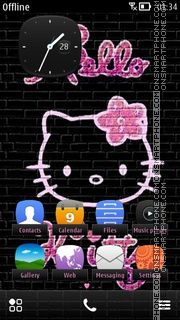 Graffiti Kitty theme screenshot