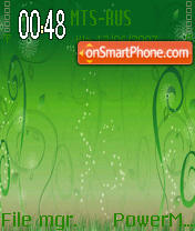 Green Abstract theme screenshot