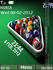 Billiard Clock 01 tema screenshot