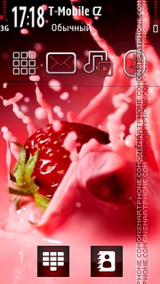 Strawberry Cocktail 03 theme screenshot