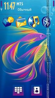 Aqua Rainbow theme screenshot