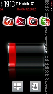 Very low Battery tema screenshot