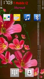 Pink Flowers 08 theme screenshot
