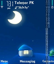 Blue Home theme screenshot