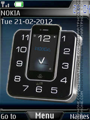 Nokia clock Theme-Screenshot