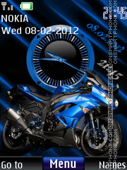 Bike Dual Clock 01 theme screenshot