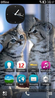 Two Sweet Kittens theme screenshot