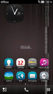 Think 01 theme screenshot