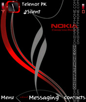 Black Red Nokia theme screenshot