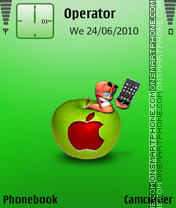 Apple by amjad es el tema de pantalla