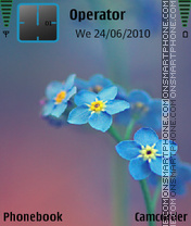 Blueflower by amjad es el tema de pantalla