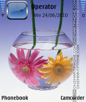 Glassflower by amjad theme screenshot